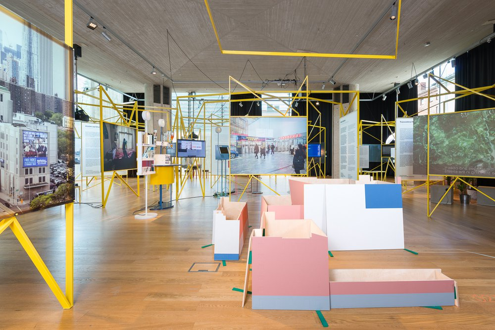 Installation view, In Residence, Oslo Architecture Triennale 2016: After Belonging.