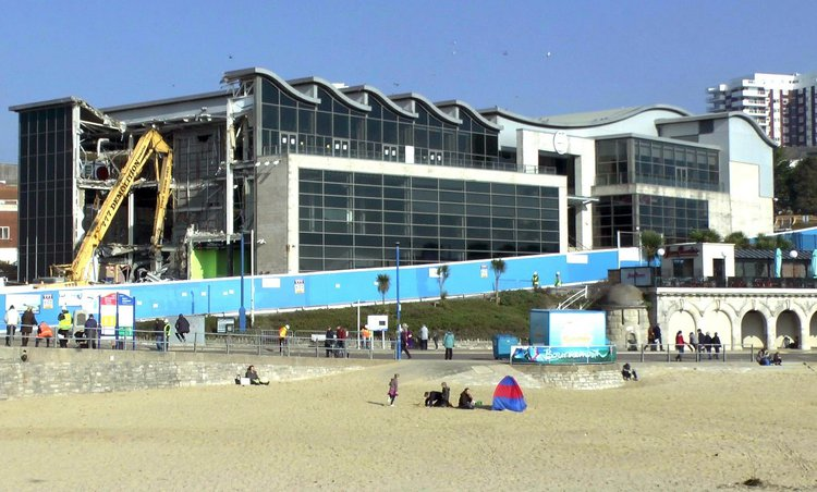 After a national poll on Channel 4's Demolition TV programme, the Bournemouth Imax was declared the UK's 'most hated building' and demolished in 2013.