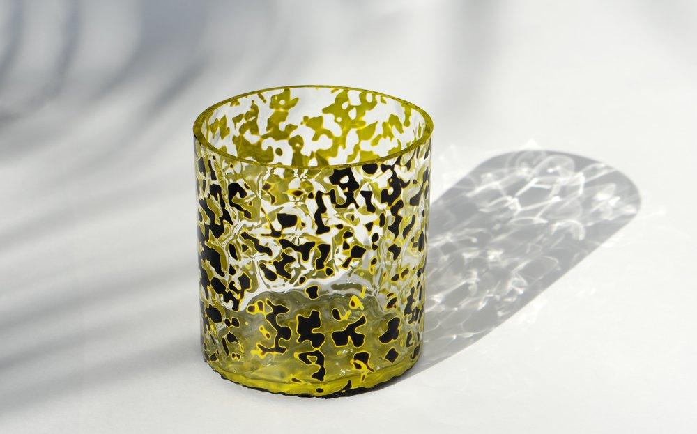 Black Xi Pi Glass Jar