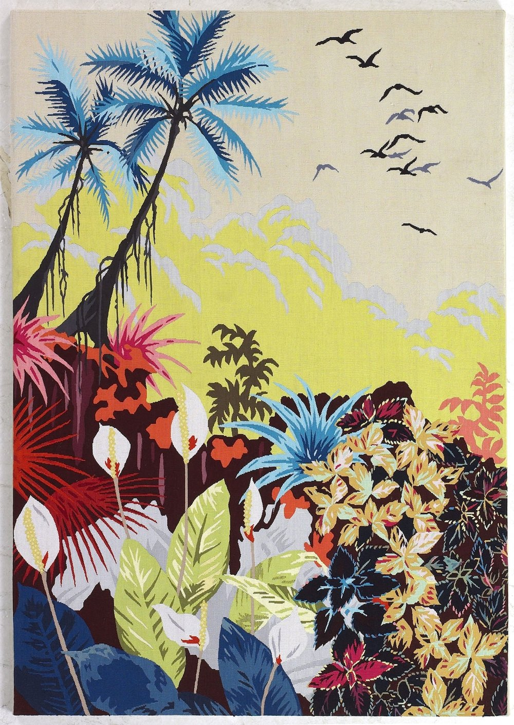 Fiona Curran for The Rug Company, Fantastic Journey, Wool and Silk Aubusson Wallhanging.
