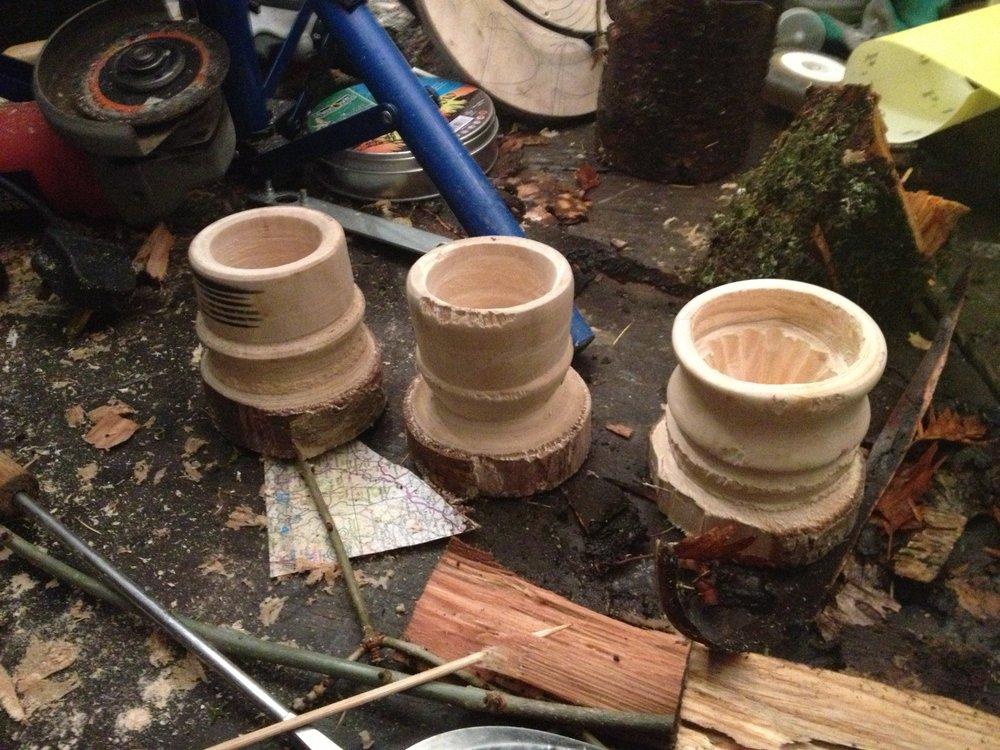 Wood Wood Lathe, Cups