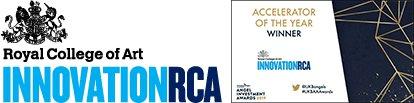 InnovationRCA Logo and Accelerator of the Year Award Badge