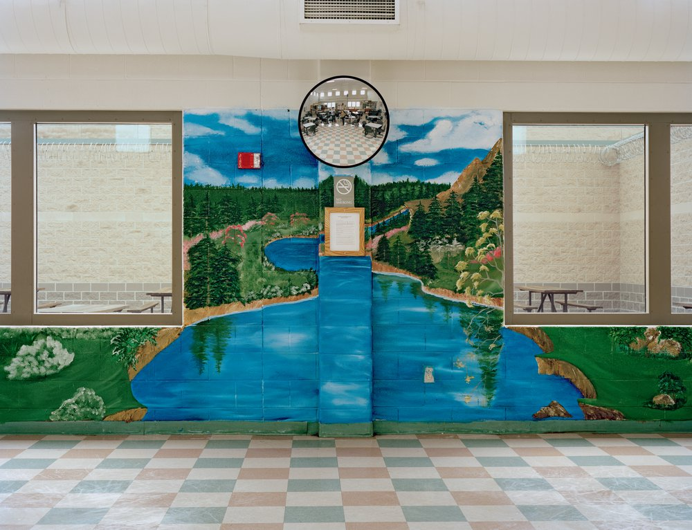 Anonymous Backdrop painted in Pennsylvania State Correctional Institution, Houtzdale