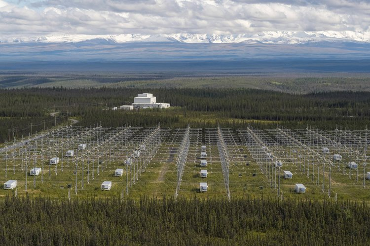 High Frequency Active Auroral Research Program (HAARP), Gakona, Alaska. This high-power radio frequency transmitter was used between 1993-2014 to study the ionosphere and investigate its potential manipulation for military surveillance. Source: Homer News