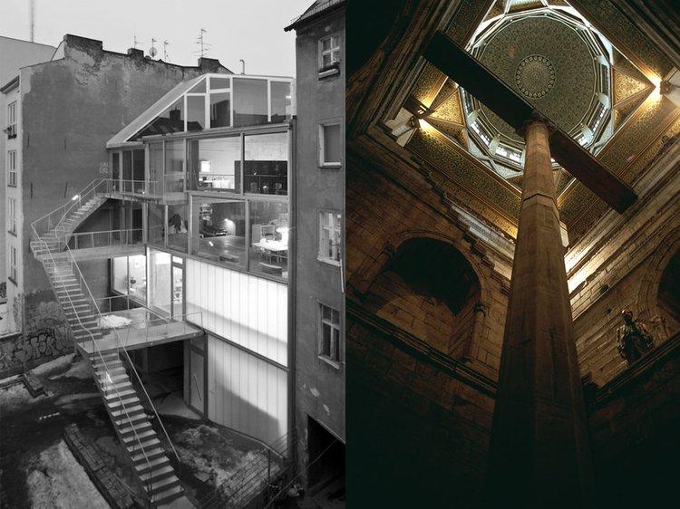 Right: Taking the net out of the gross, Arno Brandlhuber, Berlin. Left: The Nilometer, Cairo