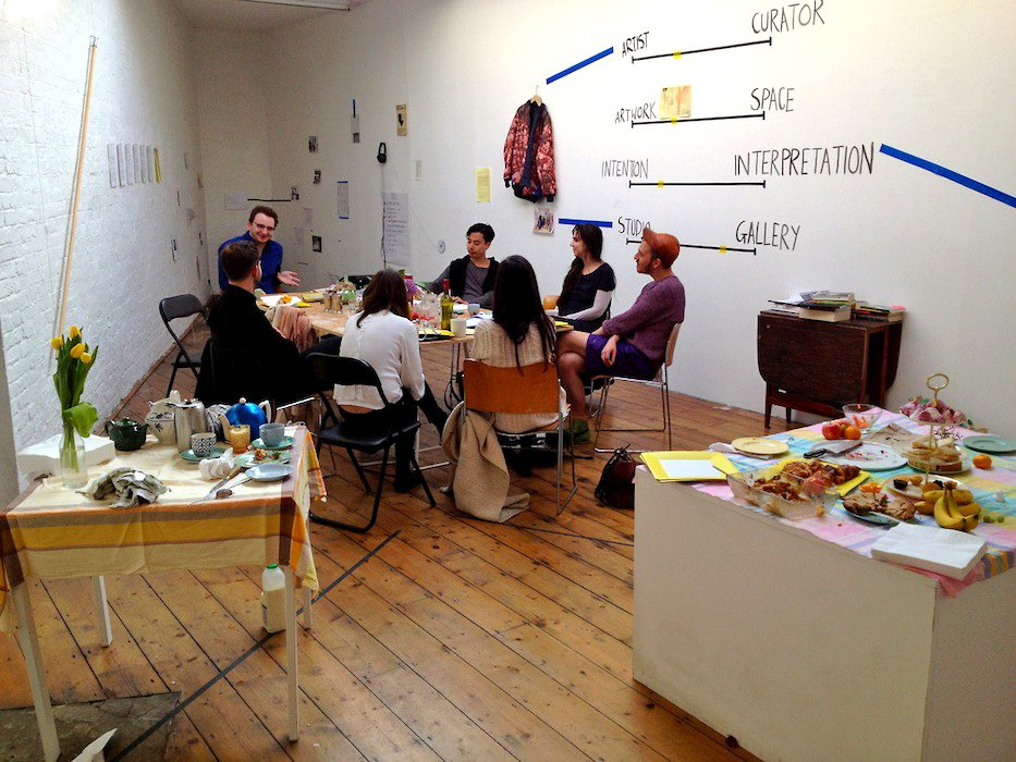 """The Curator's Studio in """"Adjacent Practice Colliding Daily"""", Acme Project Space, London (2013)"""