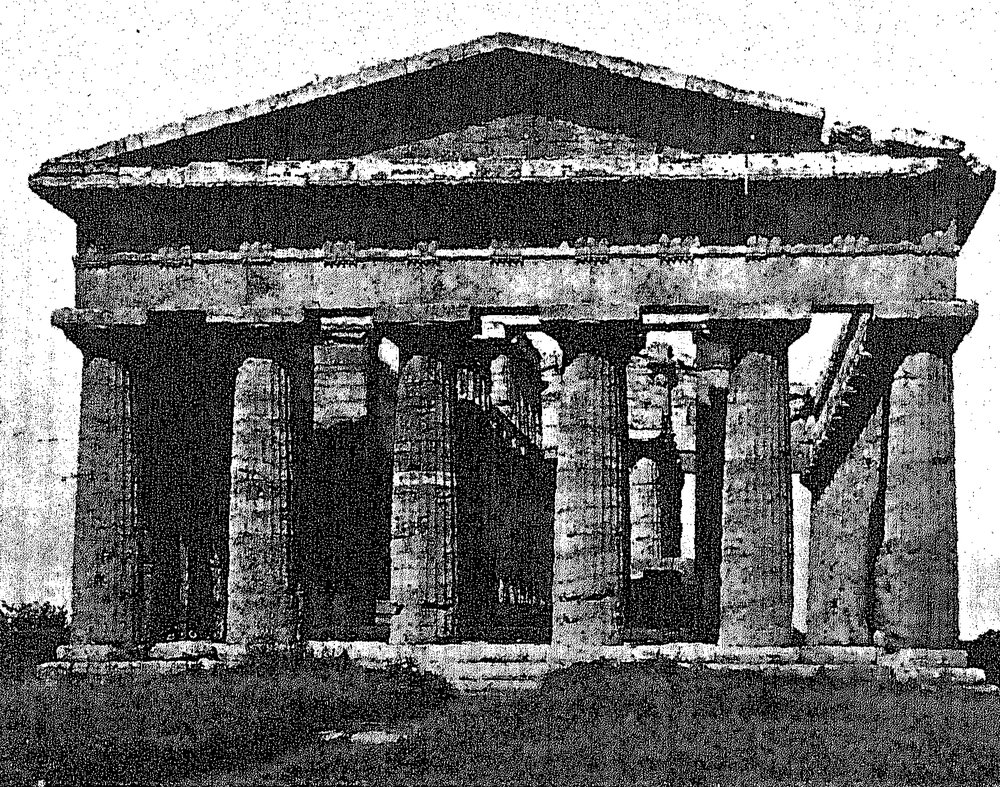 """Exporting """"repose"""": Temple of Neptune Paestum as an example as architecture with the proper quality of """"repose"""""""
