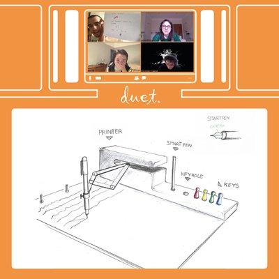screenshot of students present a design concept