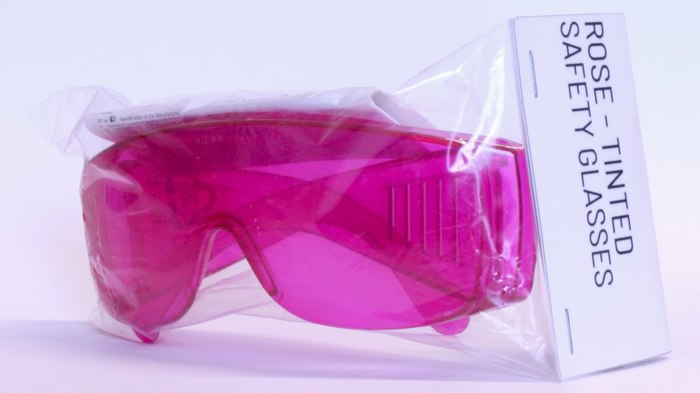 Rose Tinted Safety Glasses