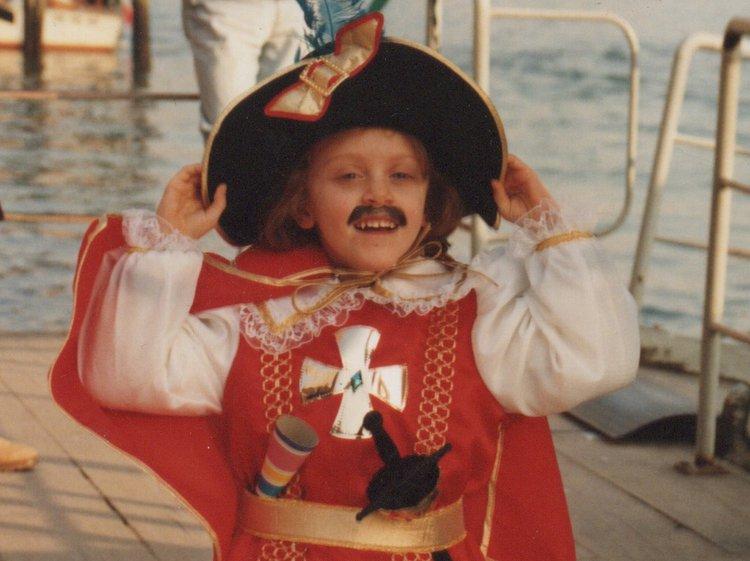 Giulia in Venice aged 5 or 6