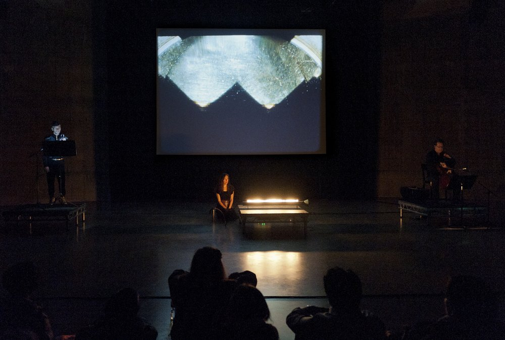 'In and Out of Synch' film performance, The Tanks, Tate Modern, 2012