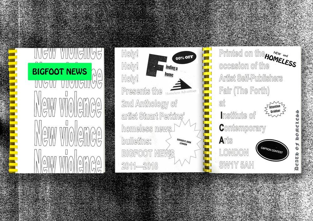 BIGFOOT NEWS: Homeless News Bulletins 2011—2018