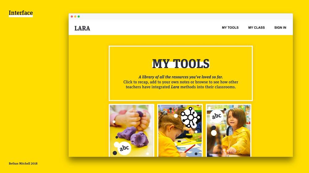 LARA interface