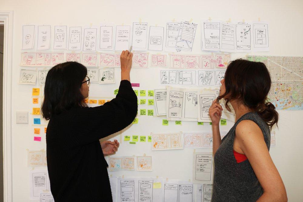 Bona city : Service blueprint & storyboard