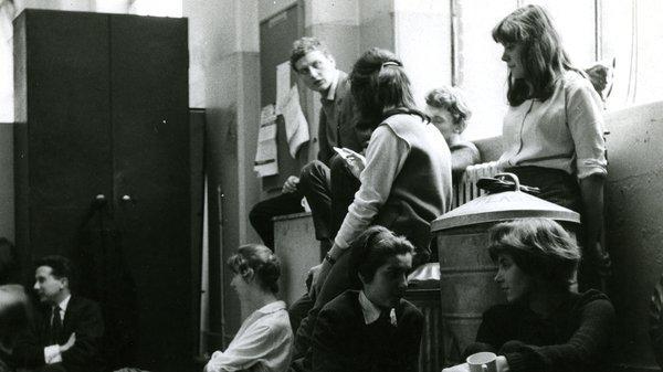 Derek Boshier in the Painting Studios, 1959
