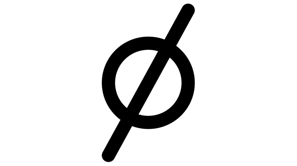 Obliquity Glyph, from the Make Do Type family