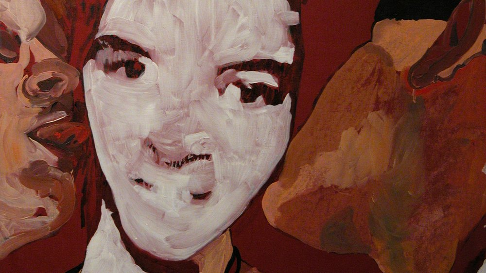 Chantal Joffe - Untitled (face) (1994) (detail)