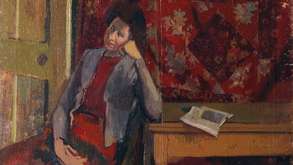 Edward Middleditch - Portrait of a Woman (1951) (detail)