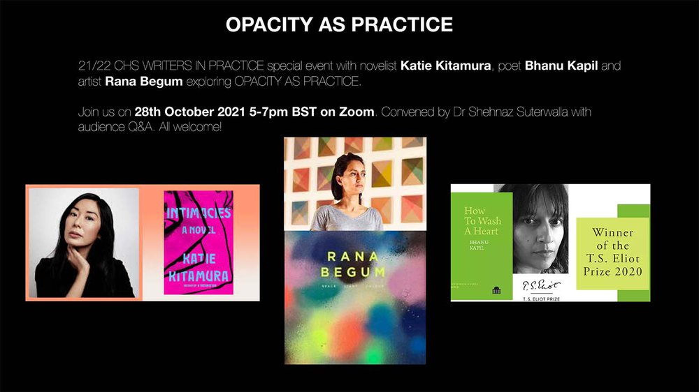 CHS Writers in Practice: Opacity as Practice