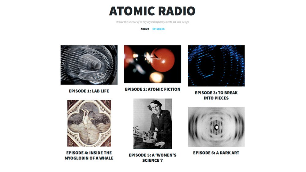 Atomic Radio website with episode listing