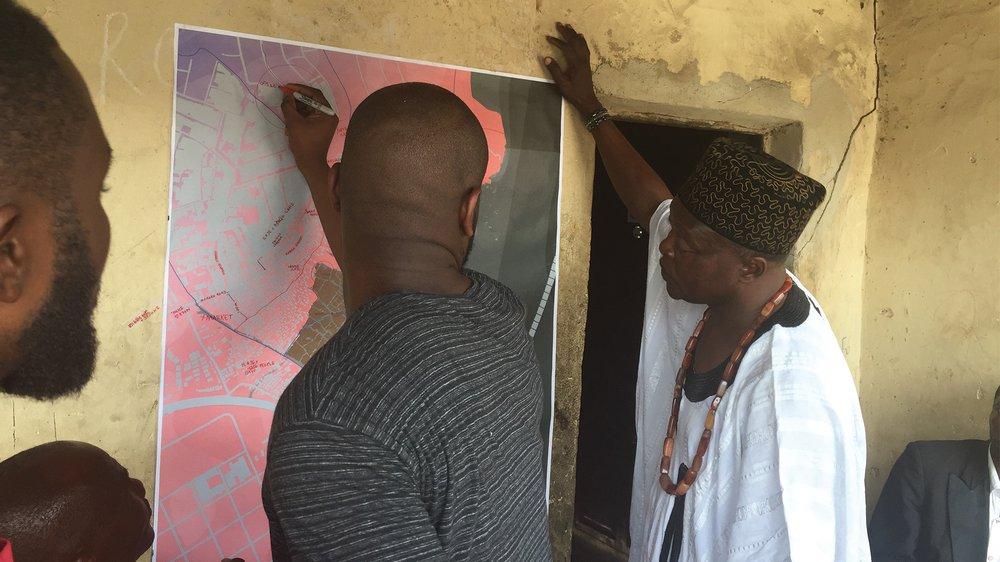 Community Mapping with High Chief Samuel A. Adebowale Erejuwa Ilaje Makoko