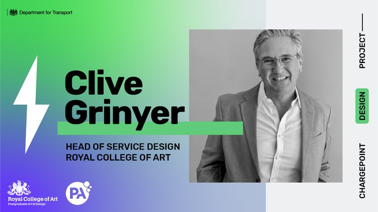 A photograph of Clive Grinyer, Head of Service Design, Royal College of Art