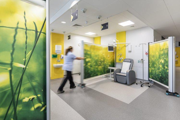 Kwickscreen screens at a hospital