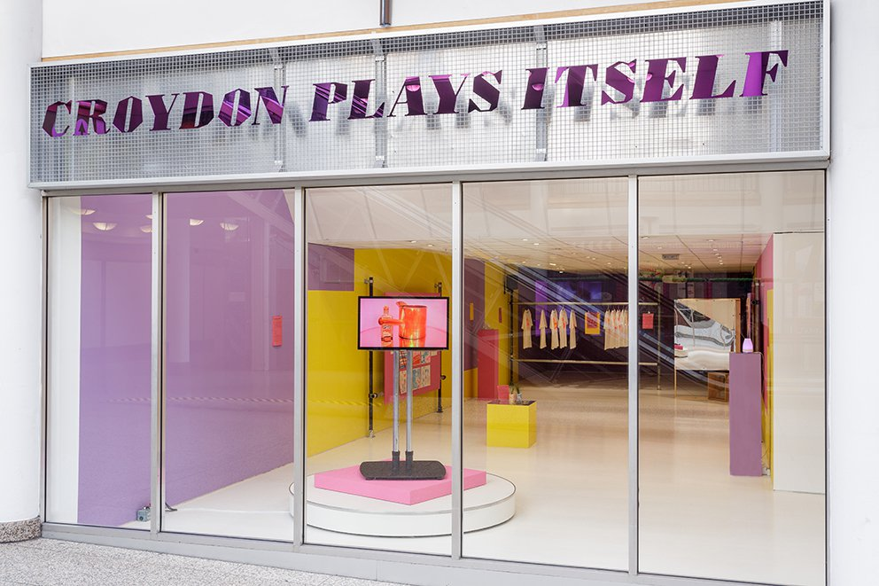 Croydon Plays Itself, Installation view, Turf Project, London, 2019. Photo by Tim Bowditch & Turf Projects