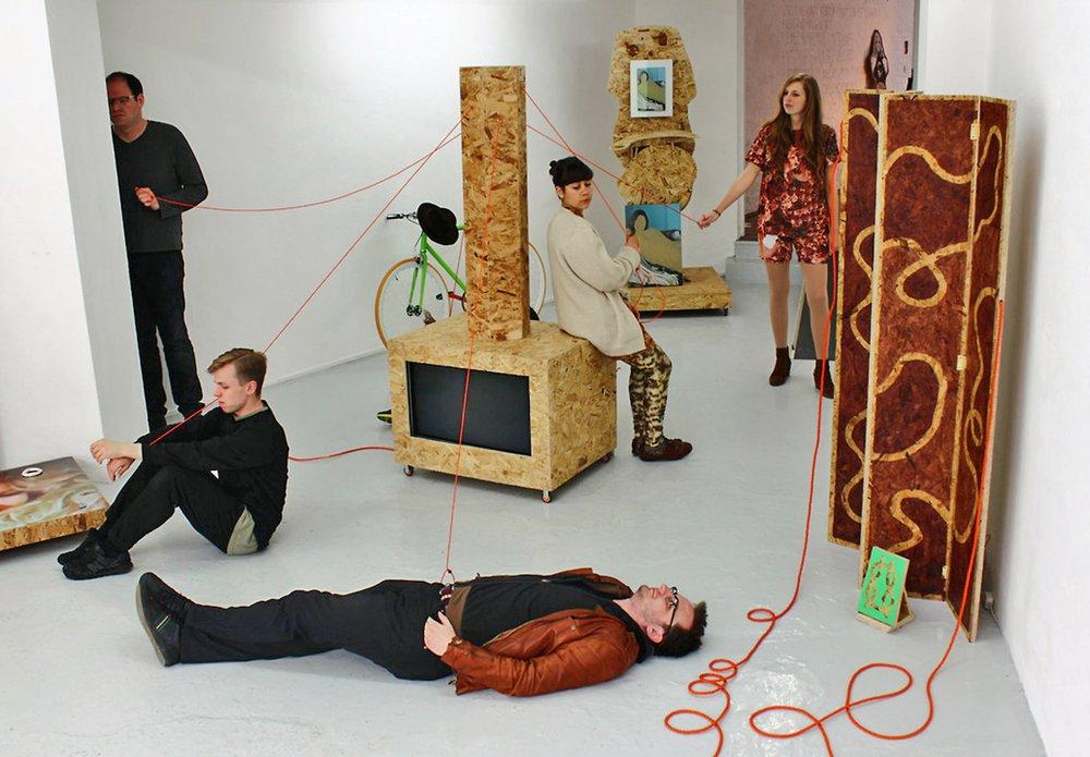 "Rafał Zajko's Curator's Dance in ""Adjacent Practice Colliding Daily"", Acme Project Space, London (2013)"