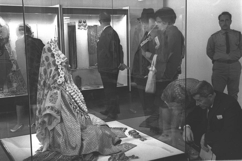 Yemenite Bride Mannequin at the Israel Museum