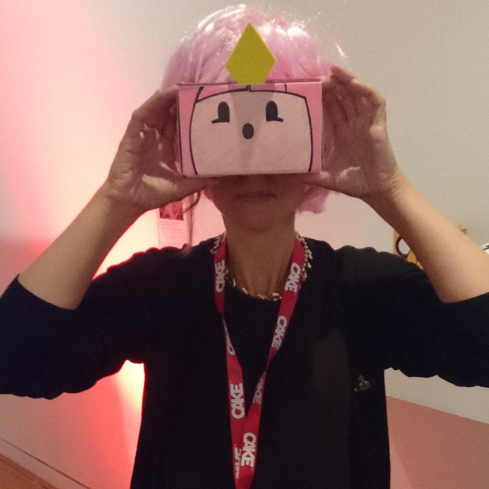 IED Sr Tutor Dylan Yamada-Rice with custom made VR headset