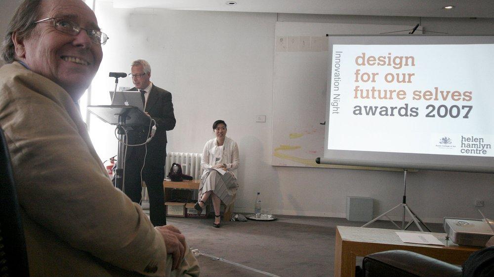 Awards presentation with Lord Snowdon