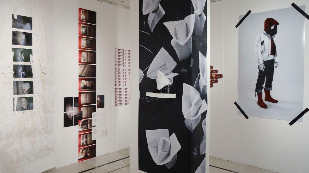 School of Material Work-in-progress Show 2015, work on pillar by Ju Yeon Hong