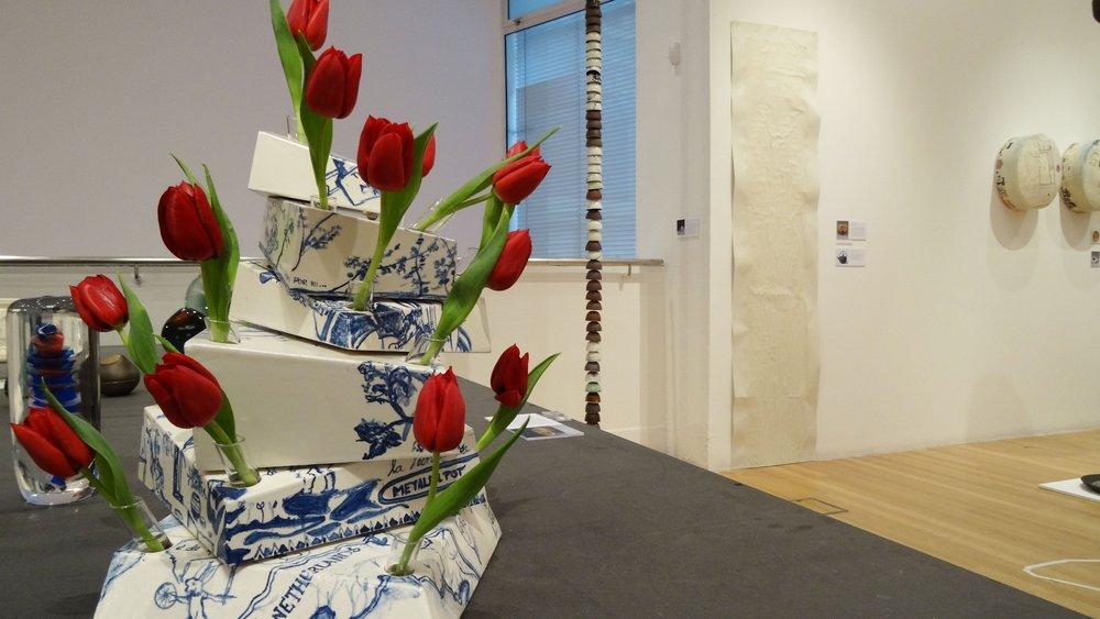 School of Material Work-in-progress Show 2015, work by Julieta Cortes entitled 'Tulip Vase'