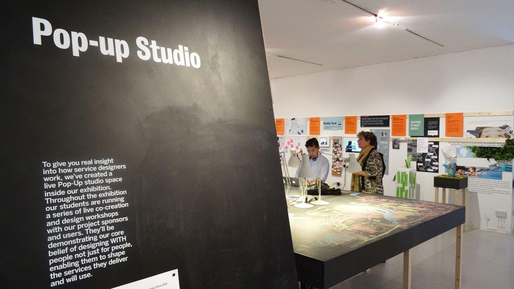 Service Design 'Pop-up Studio' at the 2015 School of Design Work-in-progress Show