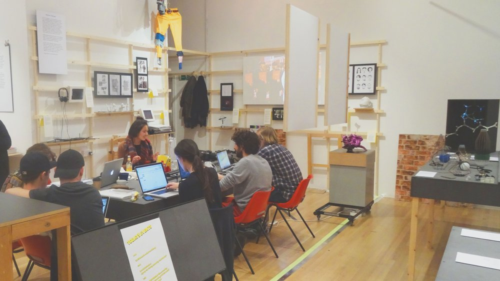 Live project space within Design Products at the 2015 School of Design Work-in-progress Show