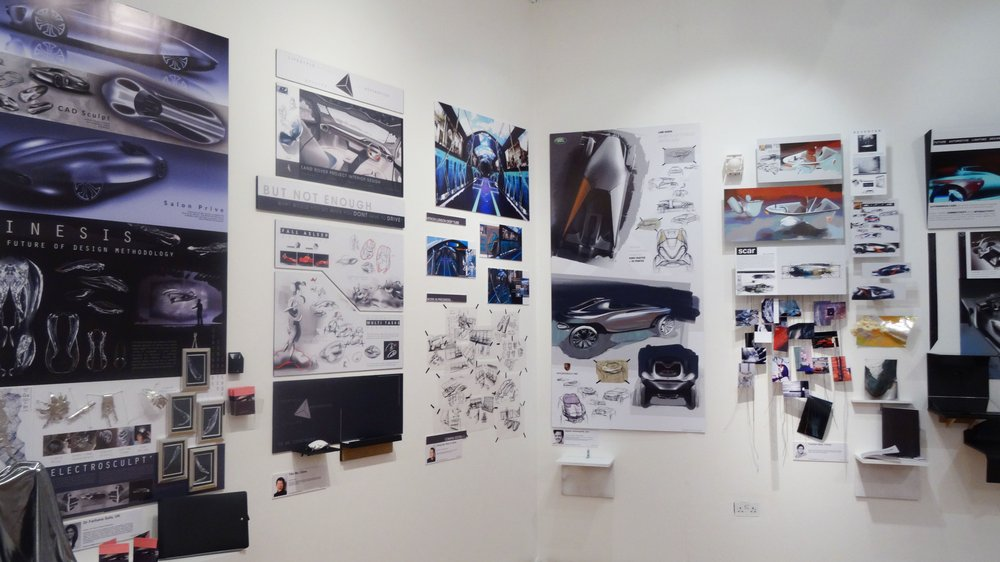 Work by Vehicle Design students at the 2015 School of Design Work-in-progress Show