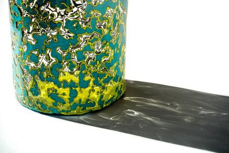 Turquise Xi Pi Glass Jar