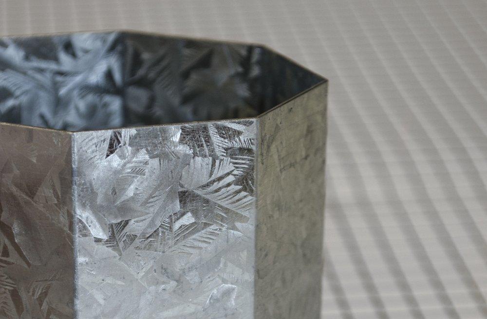 Folded Galvanized Vessel