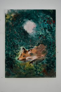 Fox in Blackberries