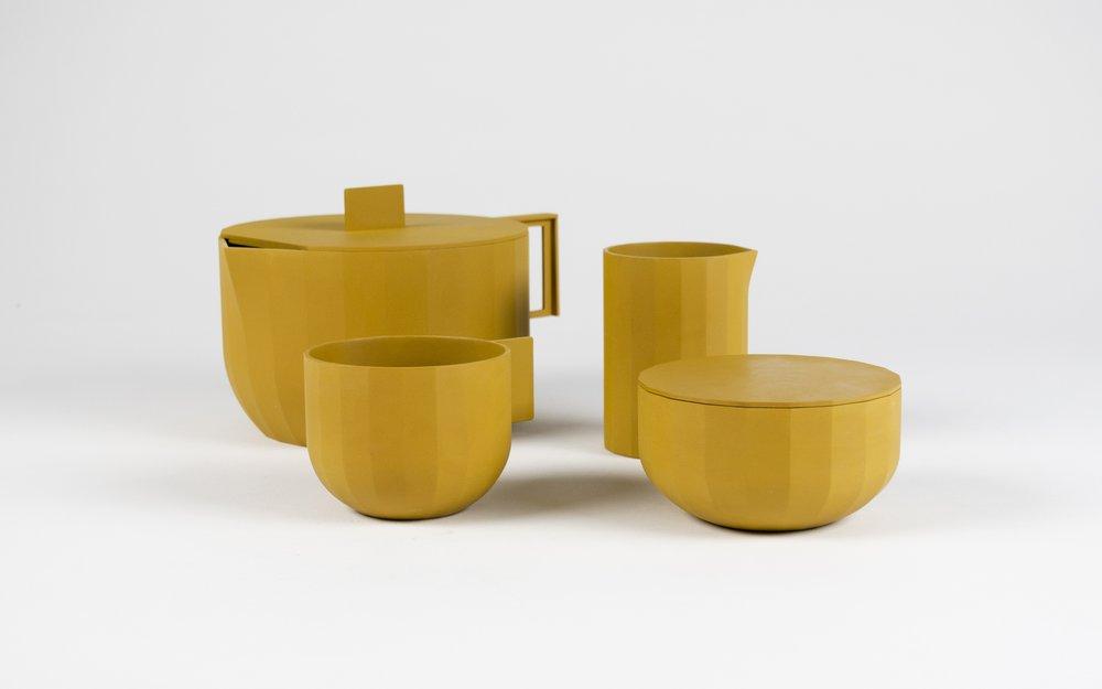 Prototypes of Tea Set to be Galvanized