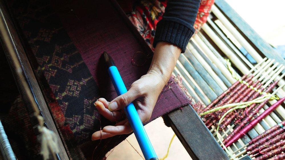 At the IKTT, weavers produce intricate handwoven silk ikat, Siem Reap