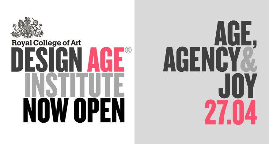 Design Age Institute: Age, Agency & Joy text poster image