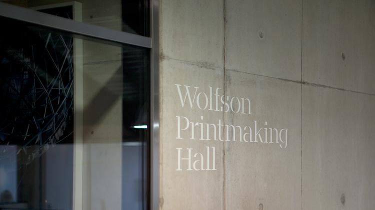 Wolfson Printmaking Hall Donor Recognition