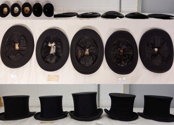 Collection of Collapsible Top Hats