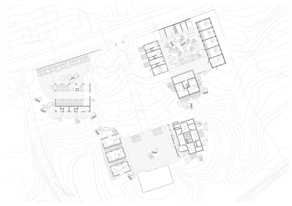 Masterplan for 7 buildings and 30 families, Holland