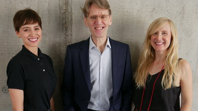 RCA Executive Education team: Jo Chounta, Peter Christian and Hattie Allen