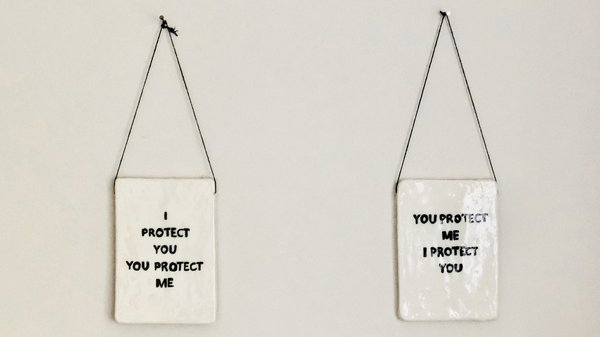 I PROTECT YOU YOU PROTECT ME (left), YOU PROTECT ME I PROTECT YOU (right)