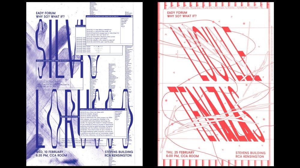 Eady Forum invites Silvio Lorusso and Lucille Tenazas (poster)