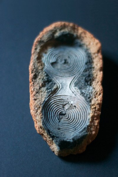 photograph of an object with a spiral pattern